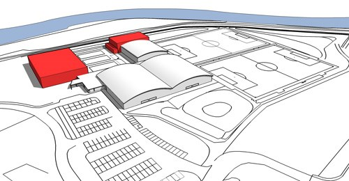 Image of layout of proposed new pool and leisure at Tarka Tennis Centre