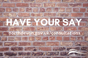 Brick wall with Have your say and consultation URL on it Consultation for new antisocial behaviour Public Spaces Protection Order