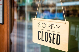 Sorry, we're closed New laws around businesses ordered to close down