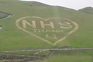 NHS tribute for web.jpg North Devon Council contractors create huge tribute to NHS in Ilfracombe
