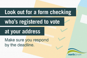 Untitled design (23).png Don't lose your voice - residents urged to look out for voter registration emails