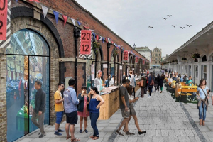 FHSF - artists impression of Butchers Row regeneration.png Future vision for Barnstaple town centre one step closer to becoming reality
